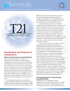Overview of Threshold 21 (T21) Model