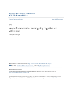 A new framework for investigating cognitive sex differences