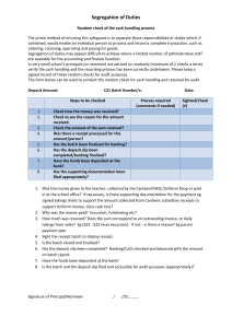 Segregation of Duties - Cash Checklist (docx