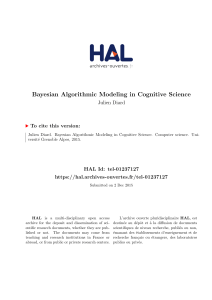 Bayesian Algorithmic Modeling in Cognitive Science