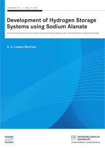 Development of Hydrogen Storage Systems using Sodium Alanate