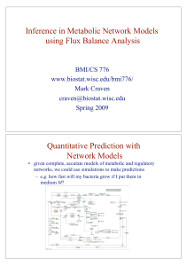 Inference in Metabolic Network Models using Flux