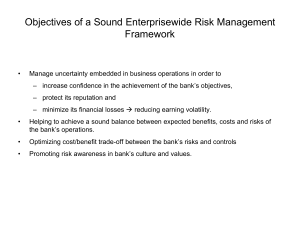 Objectives of a Sound Enterprisewide Risk