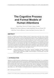 The Cognitive Process and Formal Models of Human Attentions