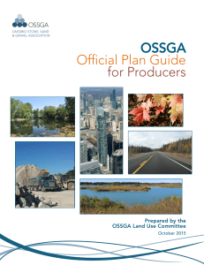 OSSGA Official Plan Guide for Producers