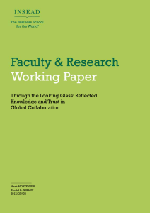 Reflected Knowledge and Trust in Global Collaboration