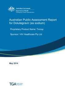 Australian public assessment report for Dolutegravir (as sodium)