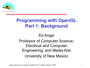 OpenGL Functions - Computer Science