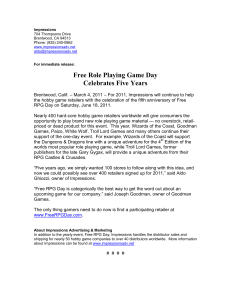 Free Role Playing Game Day Celebrates Five Years
