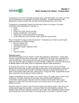 Module 3 Water Quality Fact Sheet