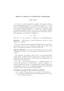 Group actions in symplectic geometry