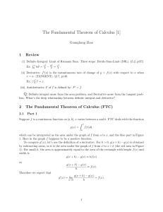 The Fundamental Theorem of Calculus [1]