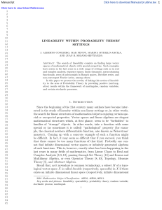 LINEABILITY WITHIN PROBABILITY THEORY SETTINGS 1