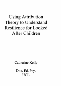 Using Attribution Theory to Understand Resilience