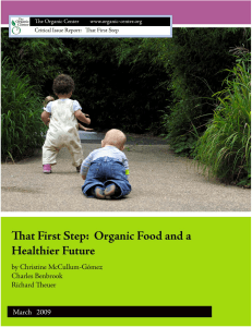 That First Step - The Organic Center