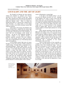 Louis Kahn and the Art of Light by Steven Weintraub