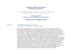 Abstracts of Presentations