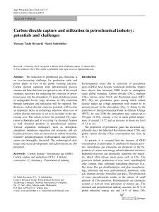 Carbon dioxide capture and utilization in petrochemical industry