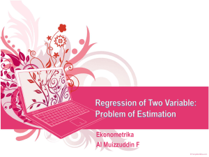 two-variable regression model: the problem of estimation