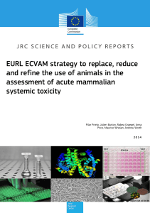 EURL ECVAM strategy to replace, reduce and refine the use of