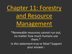 Chapter 11: Forestry and Resource Management