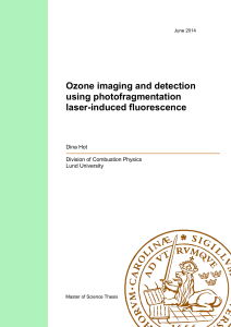 Ozone imaging and detection using photofragmentation laser