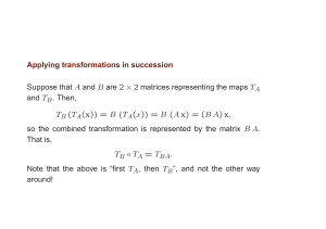 Applying transformations in succession Suppose that A and B are 2