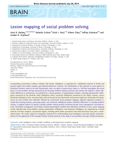 Lesion mapping of social problem solving