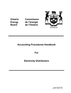 Table of Contents - Ontario Energy Board
