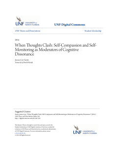 Self-Compassion and Self-Monitoring as Moderators of Cognitive