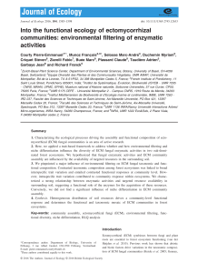 environmental filtering of enzymatic activities