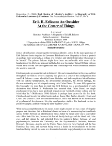 Erik H. Erikson - International Psychoanalysis