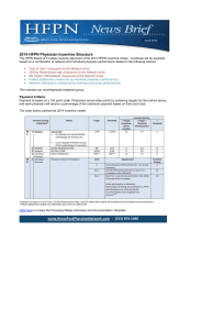2014 HFPN Physician Incentive Structure www