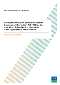 Proposed licence fee structure under the Environment Protection Act