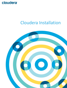 Cloudera Installation