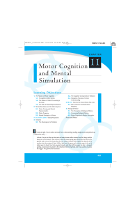 Motor Cognition and Mental Simulation