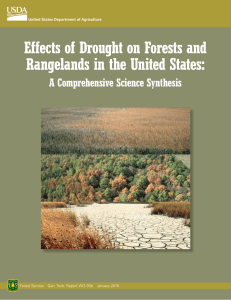 Effects of Drought on Forests and Rangelands in the United States