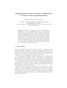 A Framework for Abstract Group Argumentation