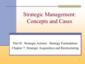 Popularity of acquisition strategies for firms competing in the global