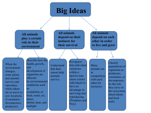 Big Ideas All animals play a certain role in their
