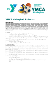 YMCA Volleyball Rules 81015