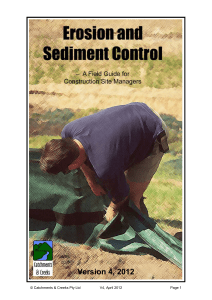 Erosion and Sediment Control - International Erosion Control