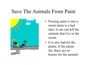 PowerPoint Presentation - Save The Animals From Paint