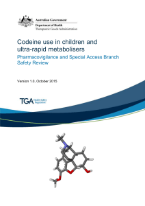 Codeine use in children and ultra-rapid metabolisers