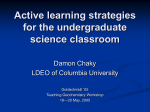 Active learning strategies for the undergraduate - SERC