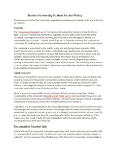 Stanford University Student Alcohol Policy