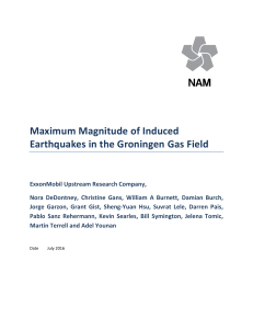 Maximum Magnitude of Induced Earthquakes in the Groningen Gas