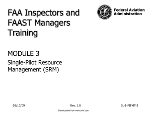 FAAST Module 3 - Aviation Human Factors