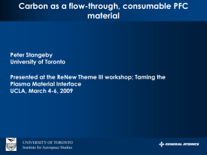 Carbon as a flow-through, consumable PFC material