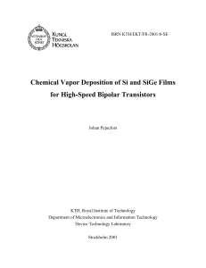 Chemical Vapor Deposition of Si and SiGe Films for High